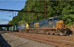 CSX ES40DC 5302 leads Q703-22